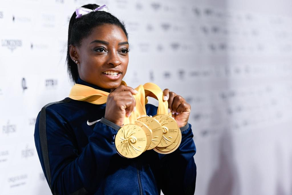 WATCH: Simone Biles Trying a Move She Hasn't Done Since She Was 13!