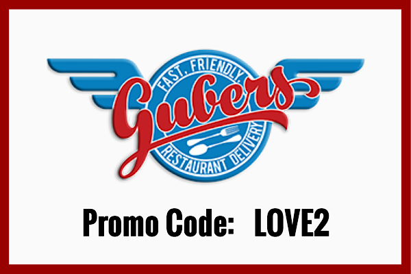 "We ""Love 2 Spreading Love, Not Covid""!  Receive HALF OFF your delivery fee by using the promo code LOVE2 at checkout.  Gubers accepts cash & all major credit cards.  Check out the website at www.gubersofsetx.com"