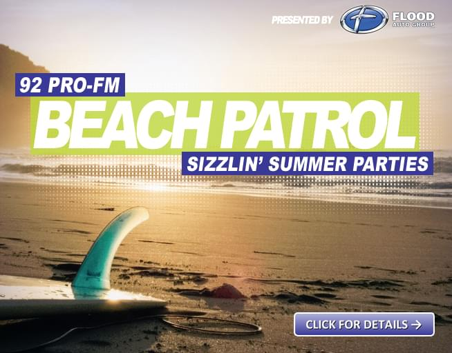 Beach Parties, Prizes & Music this Summer with 92 PRO-FM
