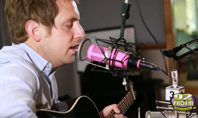 Ben Rector Q & A and Performance in the 92 PRO-FM Studio