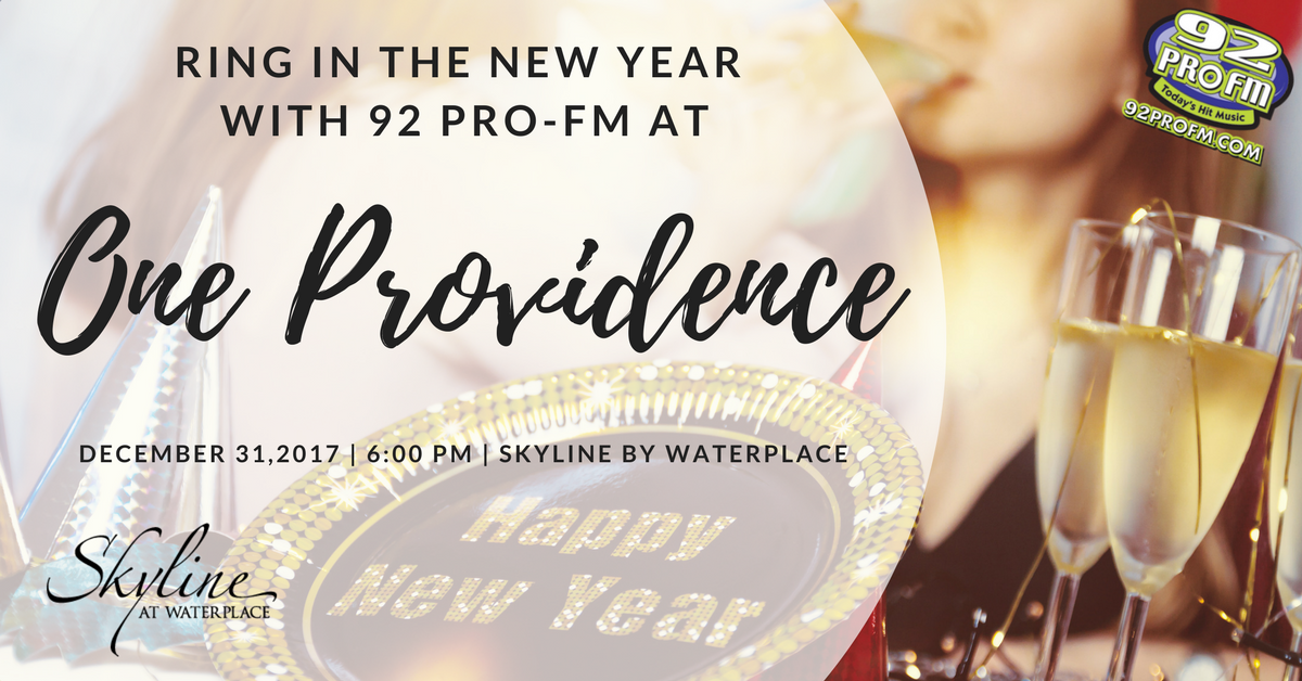 Ring in the New Year at One Providence by Skyline at Waterplace