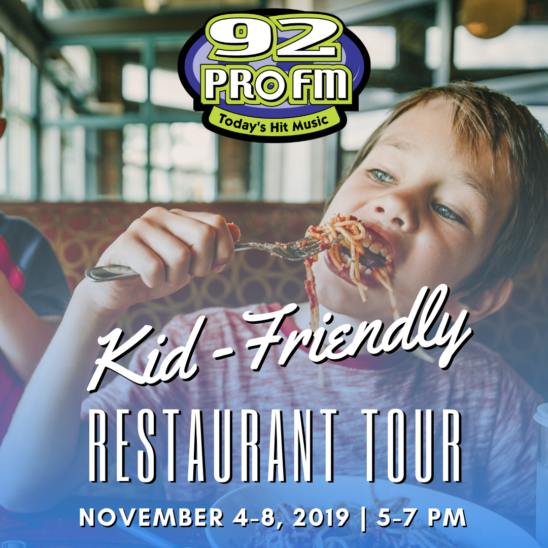 92 PRO-FM Kid-Friendly Restaurant Tour