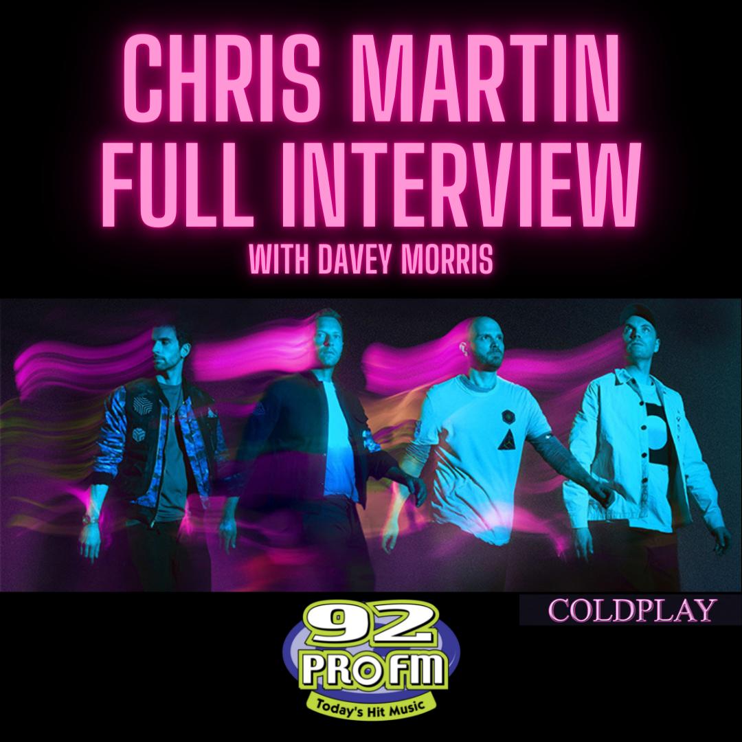 SOCIALS Chris martin interview