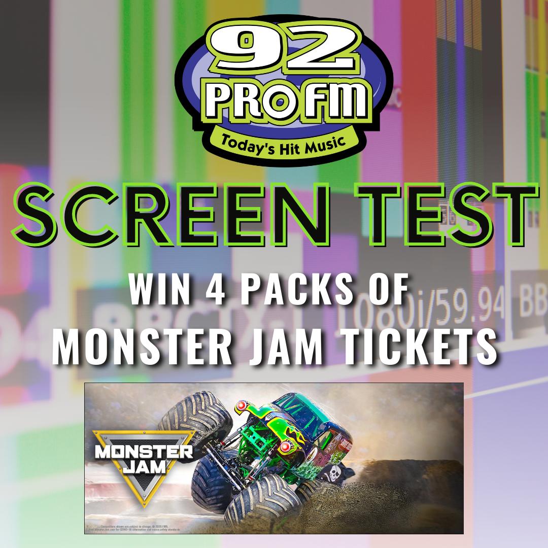 Screen Test: Win 4 Pack of Monster Jam tickets