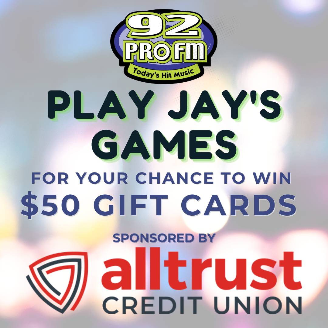 Play Jay's Games to win $50 Gift Cards from All Trust Credit Union