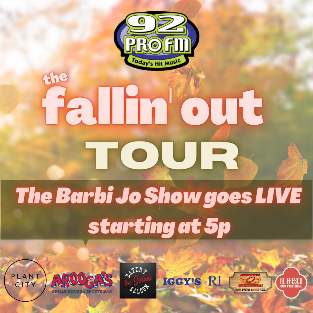 92 PRO-FM Fallin' Out Tour