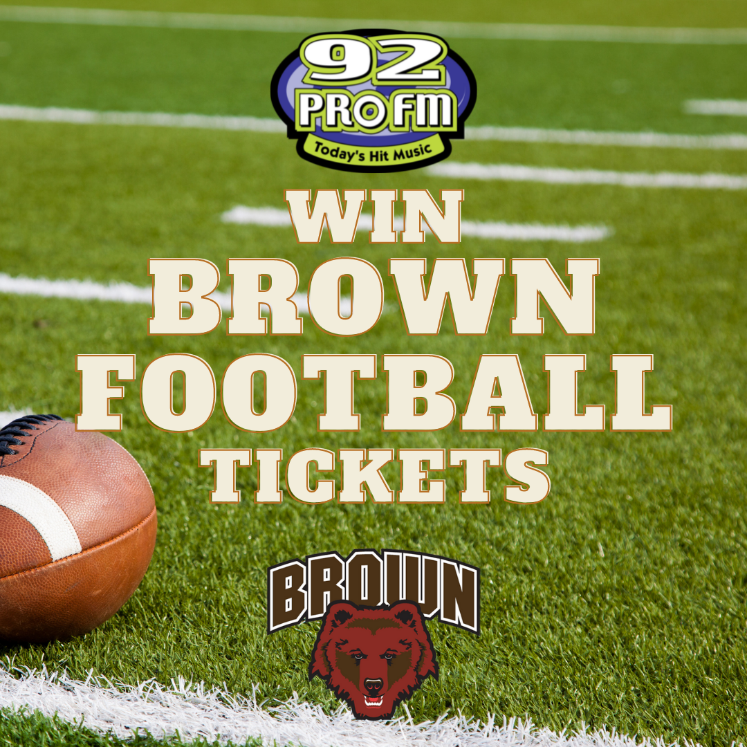 Win tickets to the 92 PRO-FM Brown Football Tailgate & Game