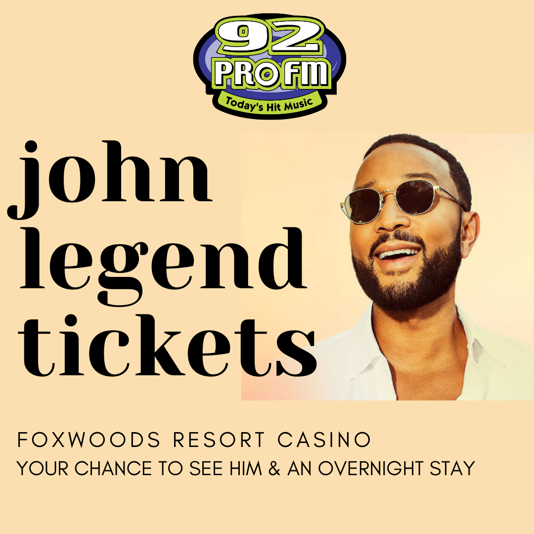 92 PRO-FM sends you to see John Legend