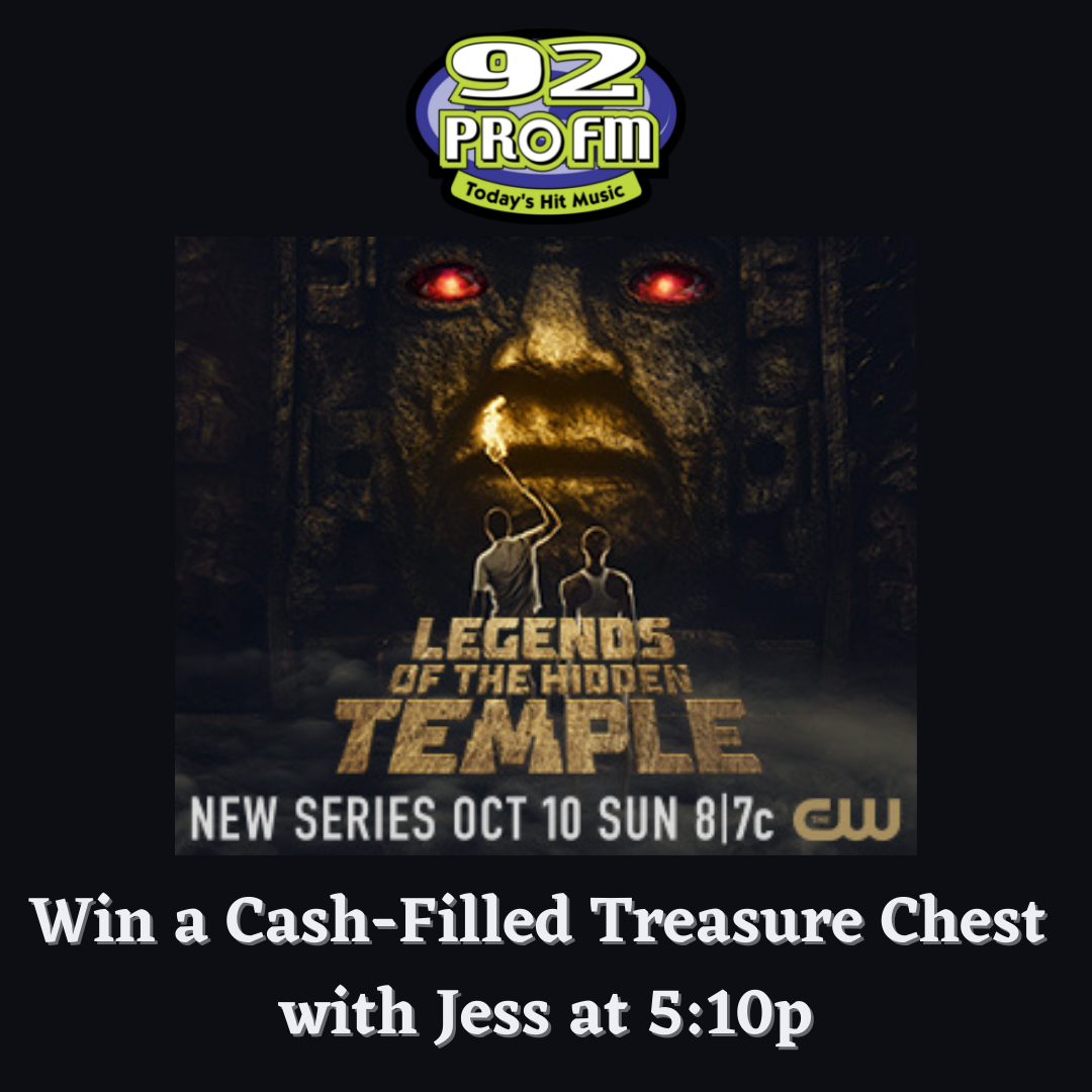 Win at 5:10pm: Your Chance at a Cash-Filled Treasure Chest with The CW Providence's Legends of the Hidden Temple