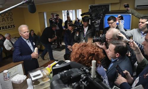 Reporter: Biden Campaign Physically Blocking Press from Asking Questions