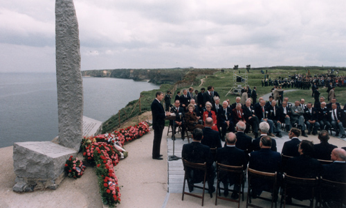 Reagan's Address at Pointe du Hoc, Normandy, France On The 40th Anniversary of the D-Day Landings