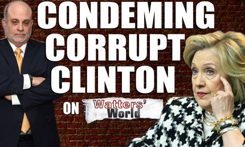 Mark Condemns Corrupt Hillary