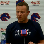 Coach Harsin: Just worry about the things that matter
