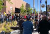 BLM protesters rallied at Boise City Hall