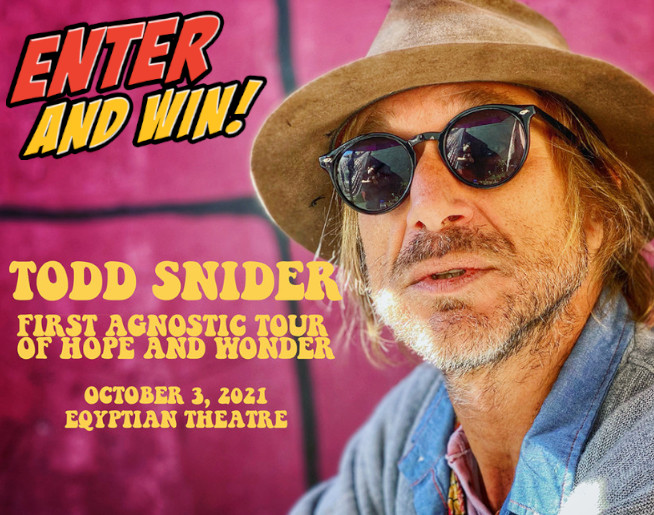Todd Snider @ The Egyptian Theatre