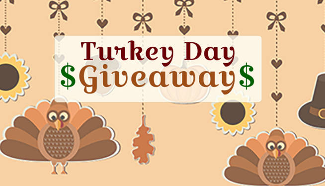 $3,000 Turkey Day Giveaway