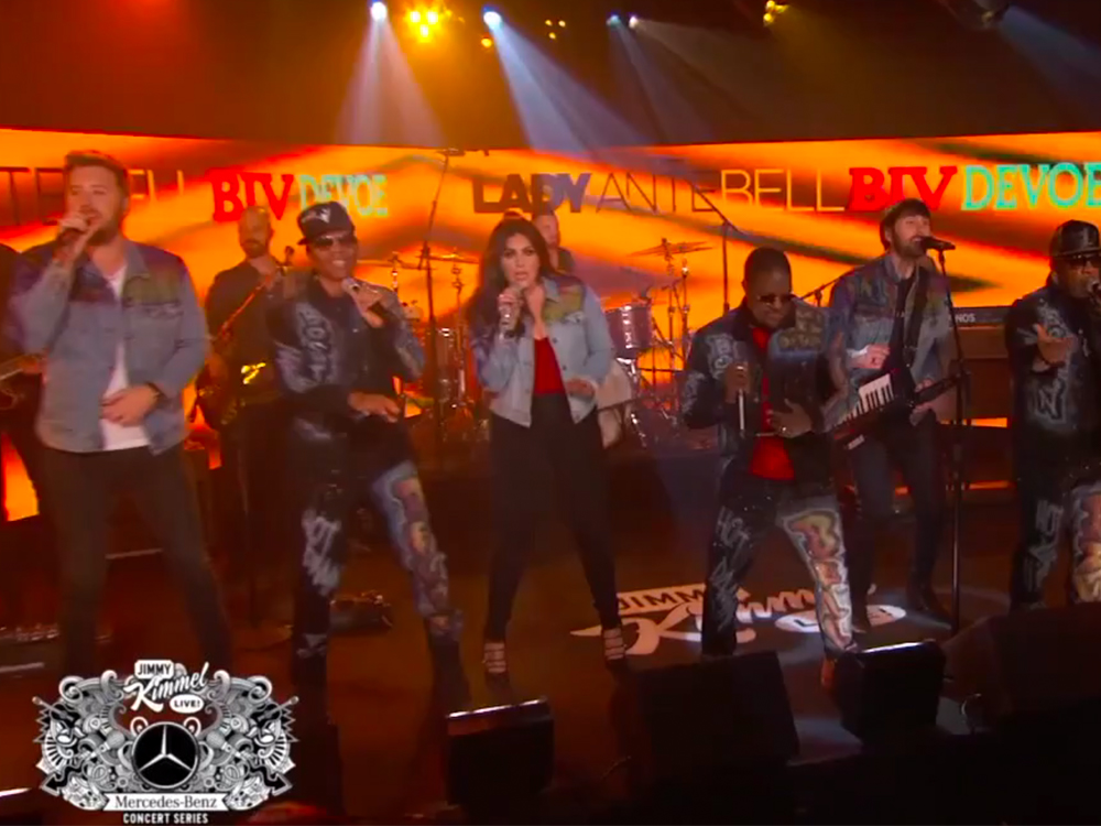 """Watch Lady Antebellum and Bell Biv DeVoe Mashup """"Need You Now"""" and """"Poison"""" on """"Jimmy Kimmel Live"""""""