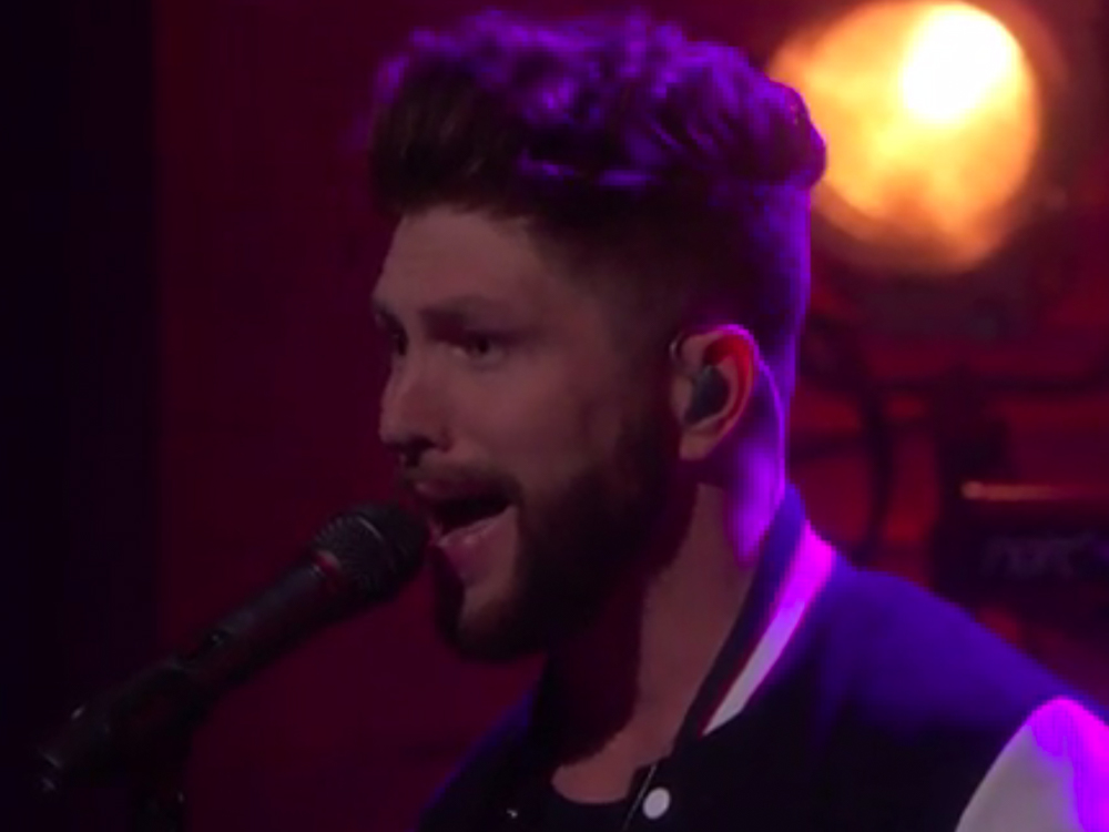 """Watch High-Haired Chris Lane Hit the High Notes in Performance of """"For Her"""" on """"Conan"""""""