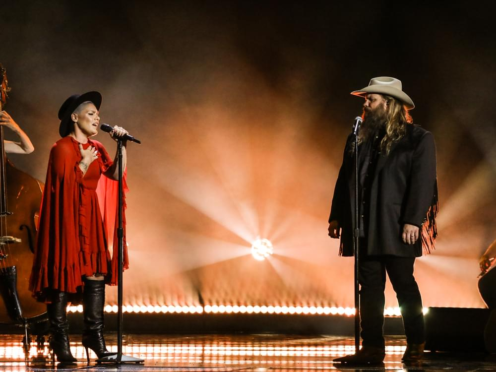 "Watch Pink & Chris Stapleton's Stunning Performance of ""Love Me Anyway"" at CMA Awards"