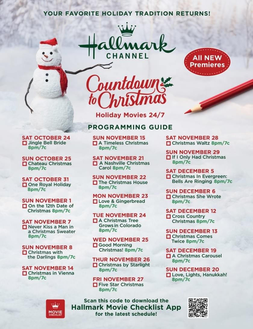 Movie Guide – Countdown to Christmas 2020