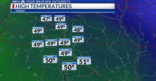 Winter Like Weather Is Here With Lows In The 20's!