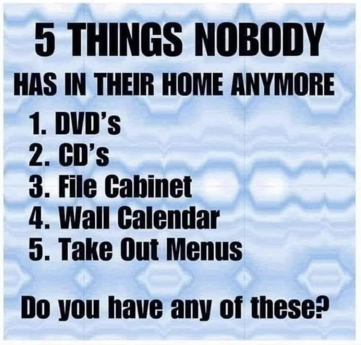 5 Things Nobody Has In Their Home Anymore