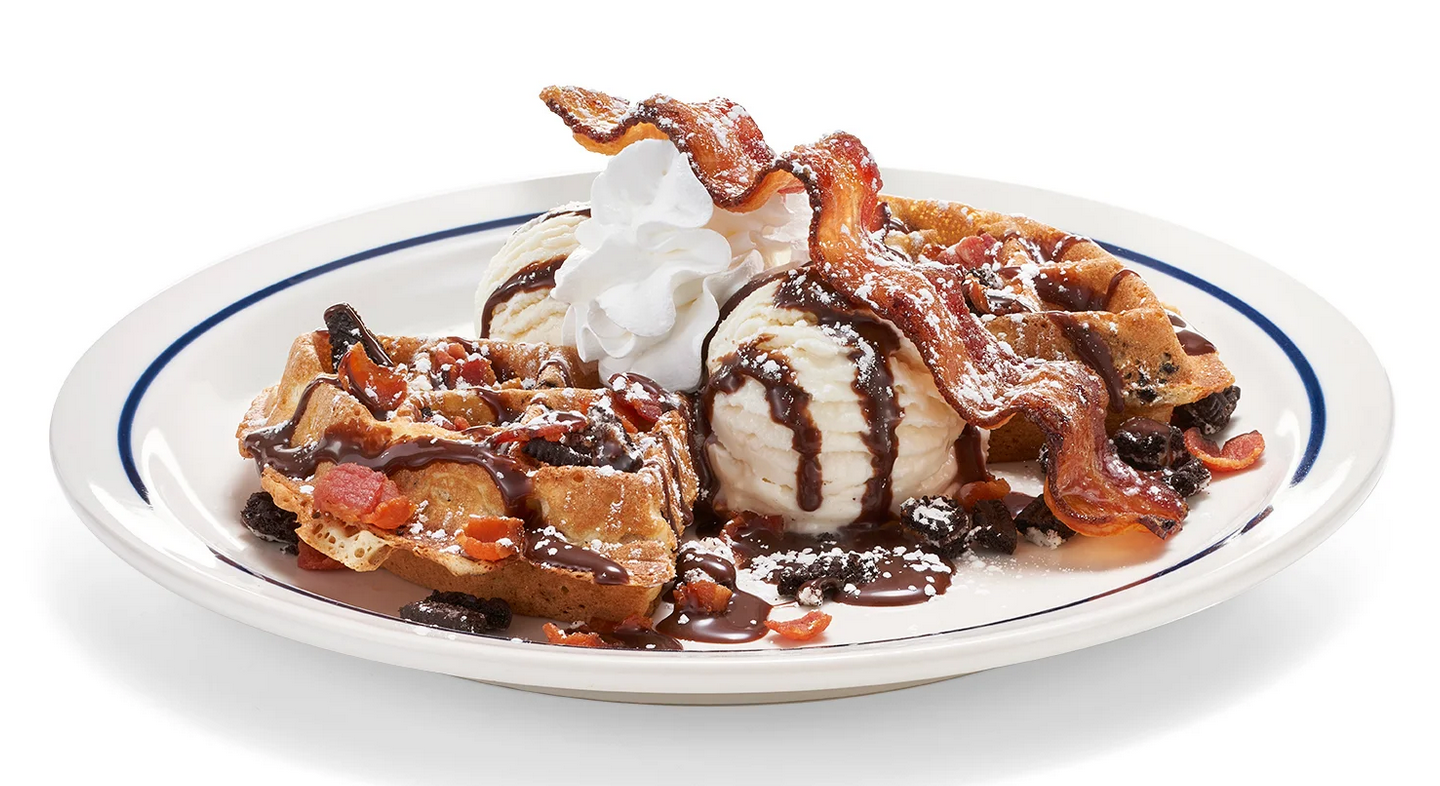 IHOP Has a New Waffle with Oreos, Bacon, and Ice Cream on Top