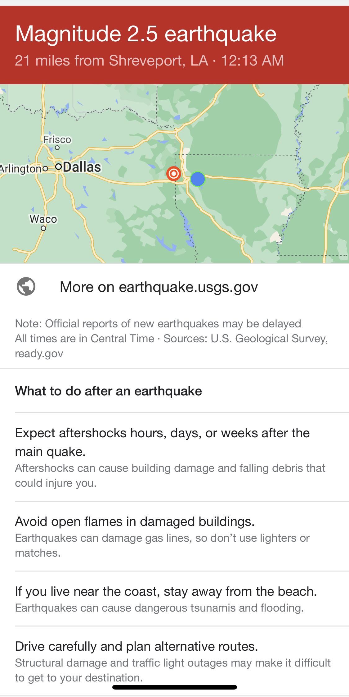 Another Earthquake Near Shreveport!