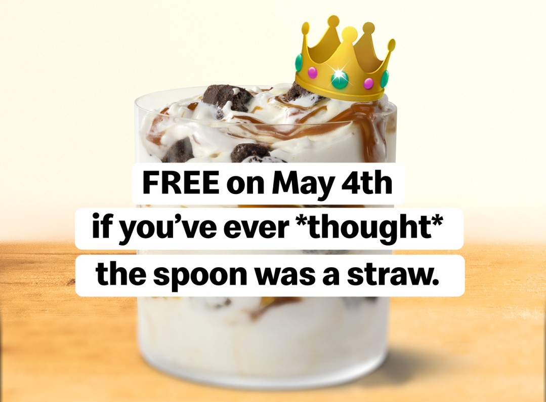 """You Can Get a Free McFlurry If You've Ever """"Mistaken the Spoon for a Straw"""""""