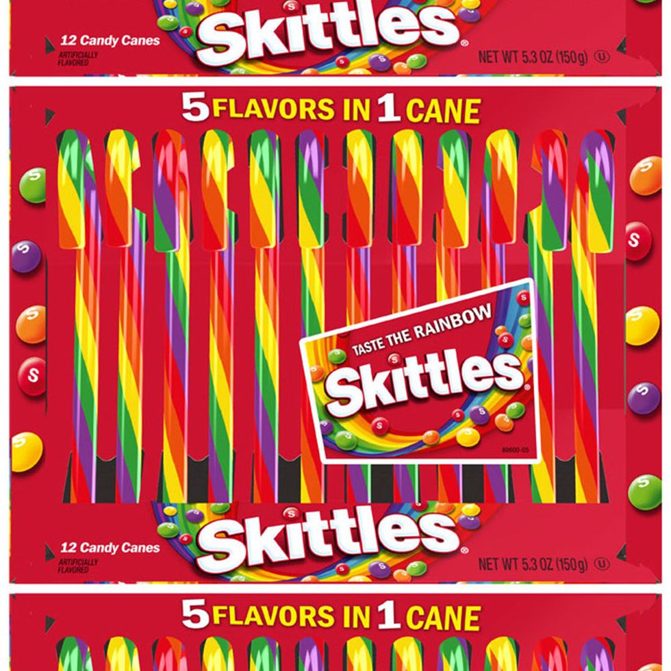 Skittles Candy Canes Are Coming This Christmas