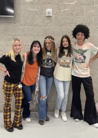 Benton HS Homecoming Week 60's and 70's Day!
