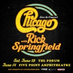 Chicago With Rick Springfield at FivePoint Amphitheater