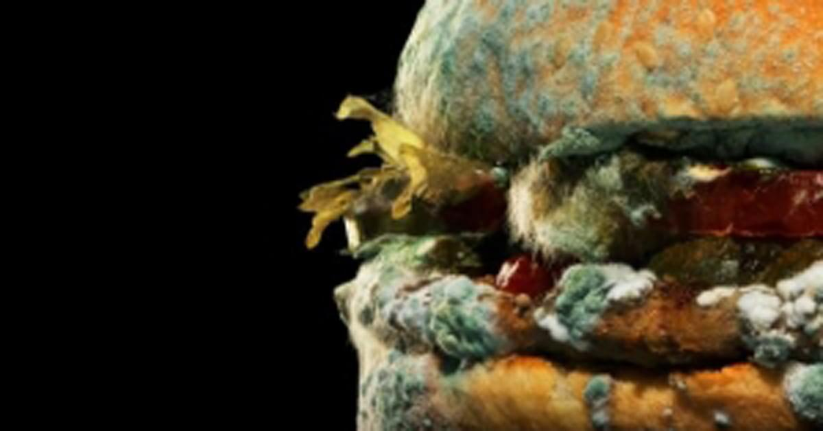See Burger King's ad campaign featuring a moldy burger