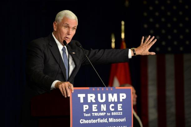Veep Pence Backs Law Enforcement