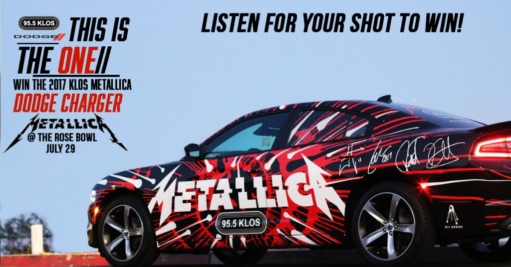 Win the KLOS Metallica Dodge Charger