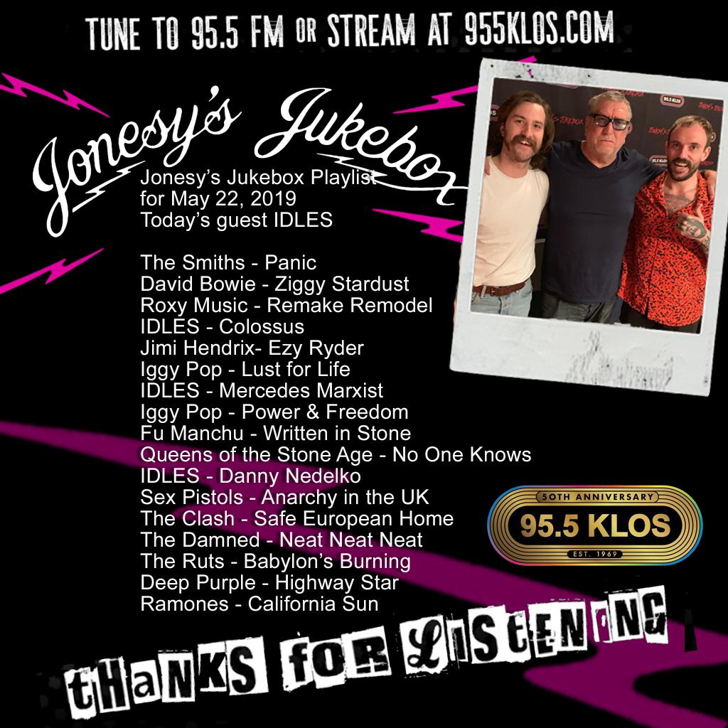 The Idles on Jonesy's Jukebox 5/22/19