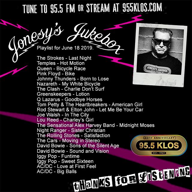 Jonesy's Jukebox 6/18/19