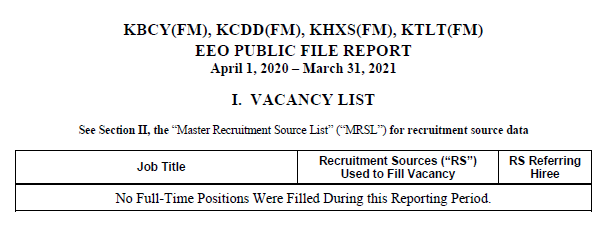EEO Public File Report