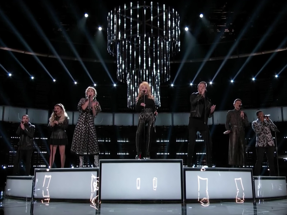 """Watch Dolly Parton, Miley Cyrus & Pentatonix Steal the Show With Performance of """"Jolene"""" on """"The Voice"""""""