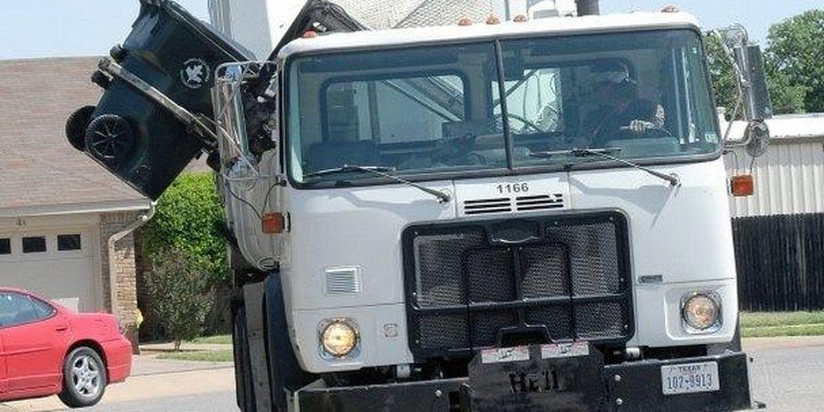 Holiday Week Trash Pick-Up For Wichita Falls