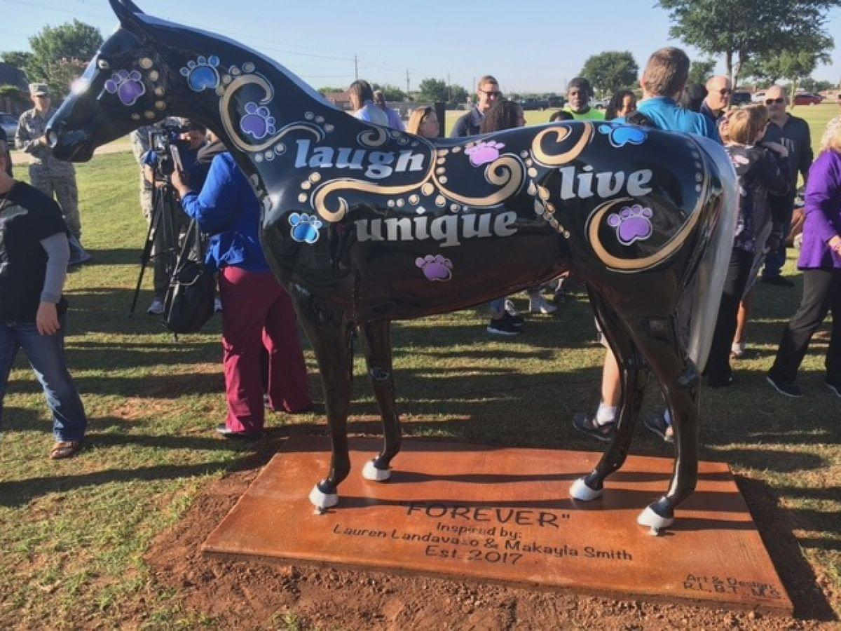 """Reward For Information On """"Forever"""" Horse Statue Theft Raised To $12,500"""