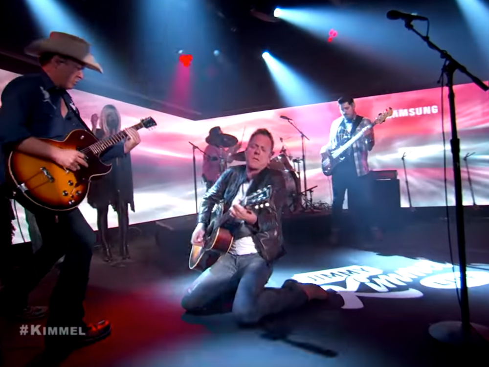 """Watch Kiefer Sutherland Get Down During a Performance of """"Can't Stay Away"""" on """"Jimmy Kimmel Live"""""""