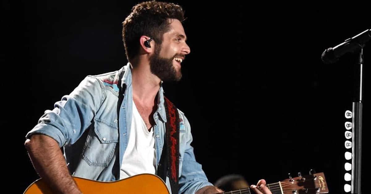 "Watch Thomas Rhett Perform ""Be a Light"" on ""CMT Celebrates Our Heroes"""