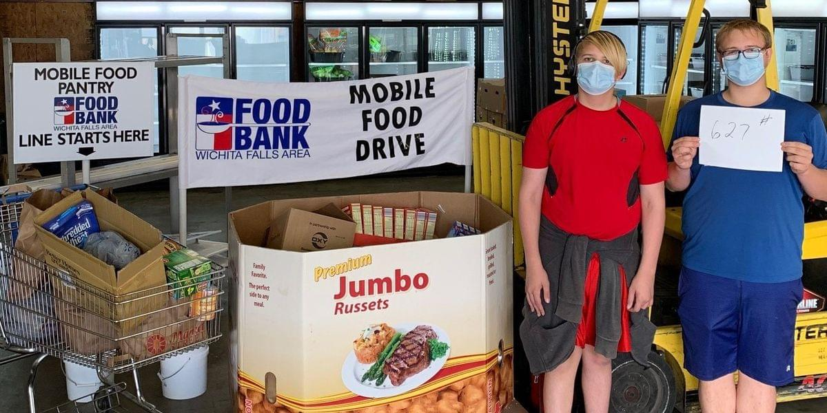 Wichita Falls Boy Scouts Donate Over 600 Pounds Of Food To Food Bank