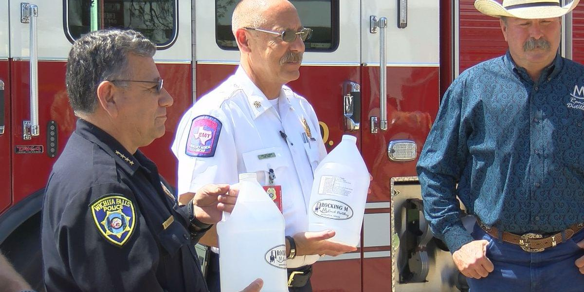 Distillery Donates Homemade Hand Sanitizer To First Responders