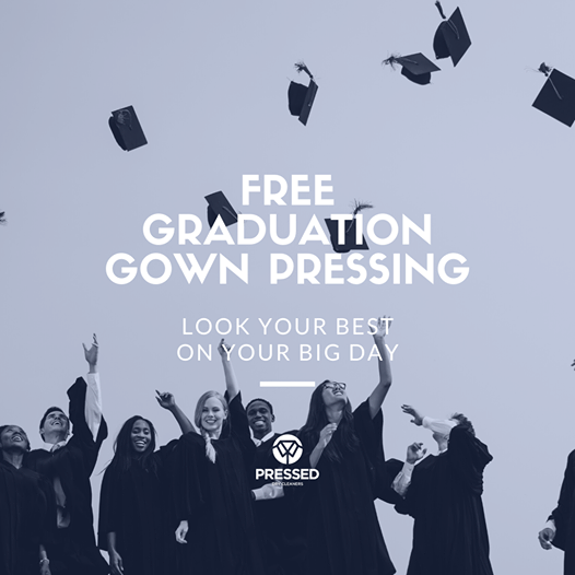 Pressed Dry Cleaners Of Wichita Falls Offering Free Graduation Gown Pressing