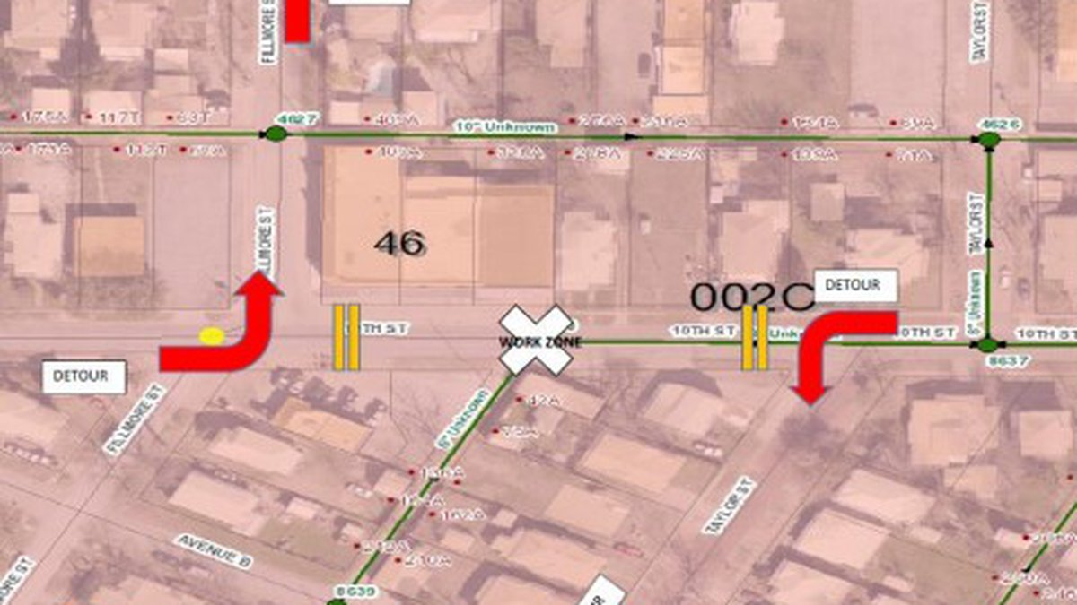 Tenth Street In Wichita Falls Closed For Repairs Starting July 27