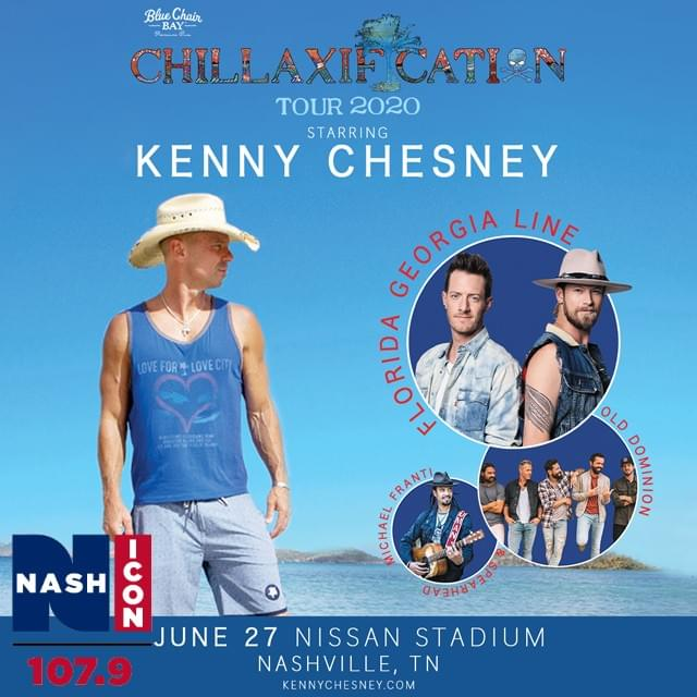 June 27th, Kenny Chesney @ Nissan Stadium
