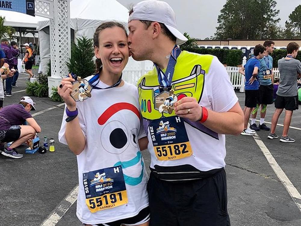 Scotty McCreery & Wife Gabi Complete Disney Half-Marathon