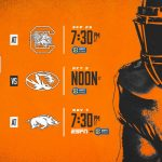 Times Set for Vols Televised Games